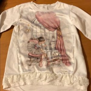 Mayoral girl ballerina top, size 3T/4T